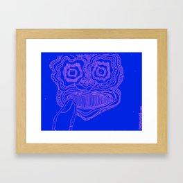 Mask #2: Thoughtful Color Framed Art Print