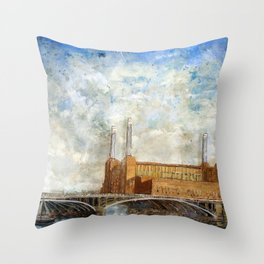Battersea Power Station London January 2012 Throw Pillow