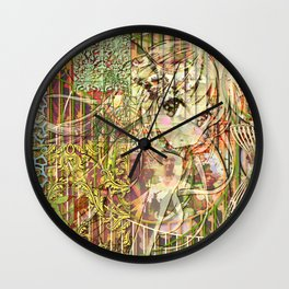 Jeune fille de joie usine (Factory girl joy) Wall Clock