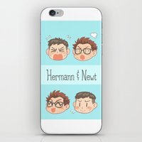 pacific rim iPhone & iPod Skins featuring Pacific Rim - Hermann and Newt by feriowind
