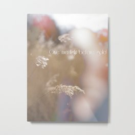 light before gold Metal Print