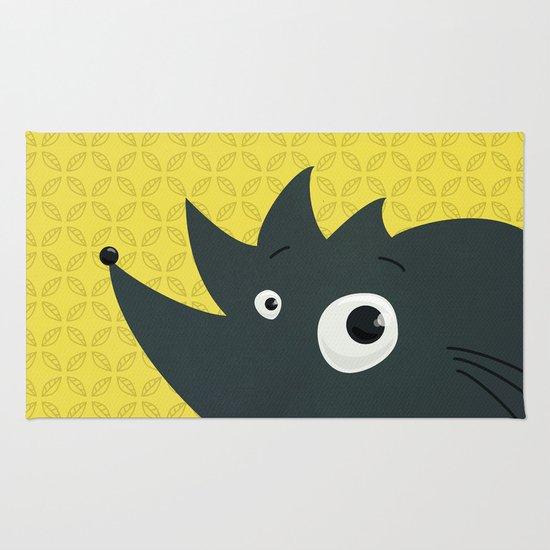 Cute Cartoon Hedgehog Rug