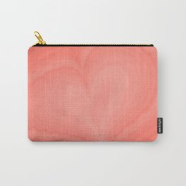 Living Coral Heart Love Marble Cute Pattern St Valentine's Day Color of year 2019 Fine Fractal Art Carry-All Pouch
