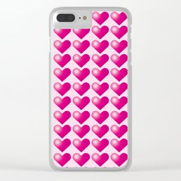 Hearts_D03 Clear iPhone Case