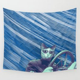 Driver cat Wall Tapestry