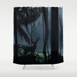 Viking Village in the Forest Shower Curtain