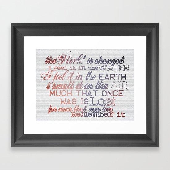Remember it. Framed Art Print