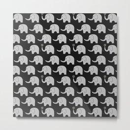 Midnight Elephant Parade Metal Print