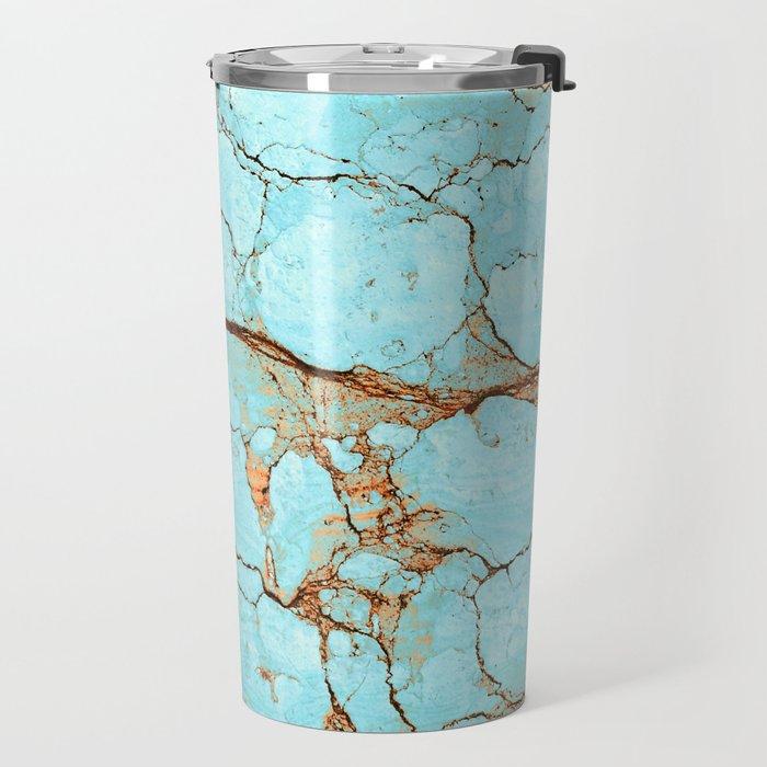 Rusty Cracked Turquoise Travel Mug