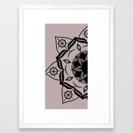 Mandala black Framed Art Print