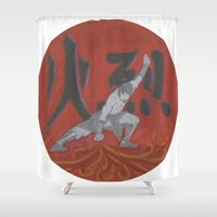avatar Shower Curtains featuring Firebender, Avatar: TLA by Blanca MonQnill Sole