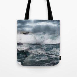 Sea. Double exposure portrait Tote Bag
