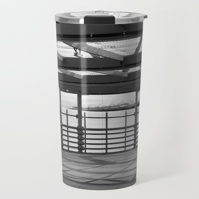 Metal constructions barriers with protective cells Travel Mug