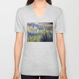 Dreamy Abstract Flowers Painting Unisex V-Neck
