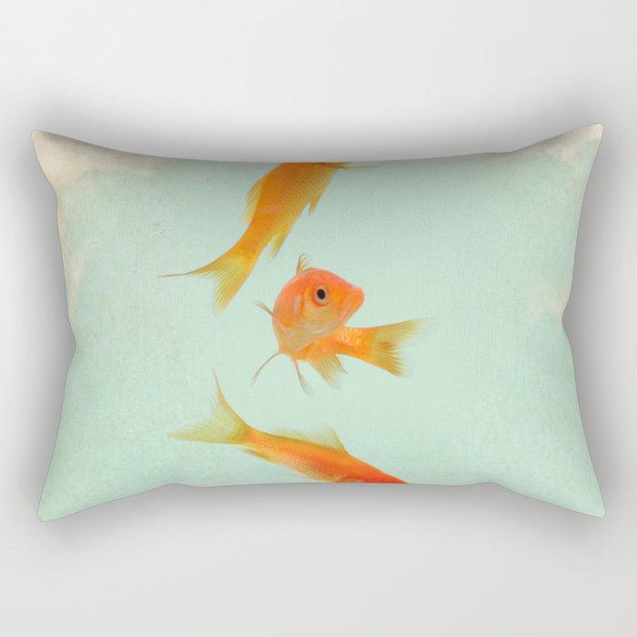 Goldfish in the sky Rectangular Pillow