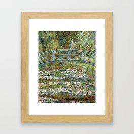 Bridge over a Pond of Water Lilies by Claude Monet Framed Art Print