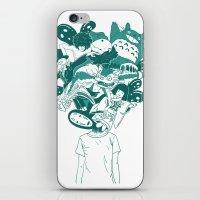 studio ghibli iPhone & iPod Skins featuring Studio ghibli mash up by Herdhi