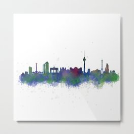 Berlin City Skyline HQ2 Metal Print