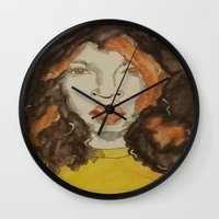 afro Wall Clocks featuring Afro by Stephon Daniels