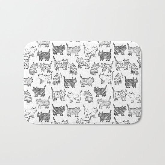 Pattern cats Bath Mat