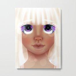 Glass Eyes (No Streak Ver.) Metal Print