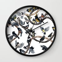 tits Wall Clocks featuring Tits of the World by Jada Fitch