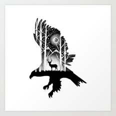 THE EAGLE AND THE DEER Art Print