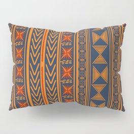 Boho Mudcloth (Blue, Gold, Persimmon) Pillow Sham