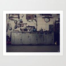 Everett's Bench Art Print