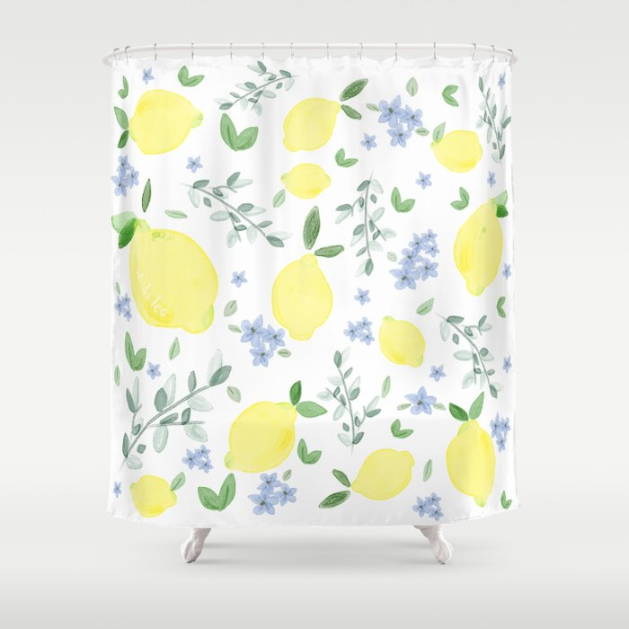 Fresh Lemon Serenade Shower Curtain