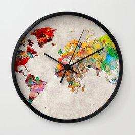 World Map 29 Wall Clock