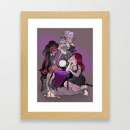 Witch Friends Framed Art Print