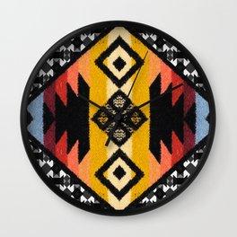 Boho Mapuche Wall Clock