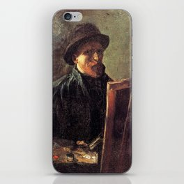 Self-Portrait with Dark Felt Hat at the Easel by Vincent van Gogh iPhone Skin