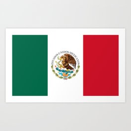 Flag of Mexico - alt version with seal insert Art Print