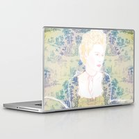 marie antoinette Laptop & iPad Skins featuring MARIE ANTOINETTE by Itxaso Beistegui Illustrations