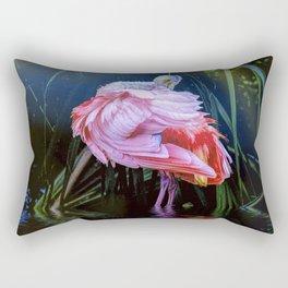 Spoonbill Fandance Rectangular Pillow