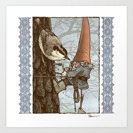 Gnome Tapper Art Print