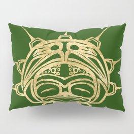 Gold Frog Grass Pillow Sham