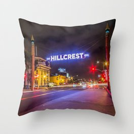 Hillcrest (San Diego) Sign - SD Signs Series #3 Throw Pillow