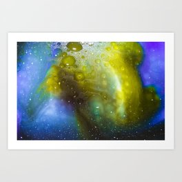 Baked & Ready - Milk & Food Coloring Painting Art Print