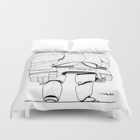 robot Duvet Covers featuring robot by Nioko