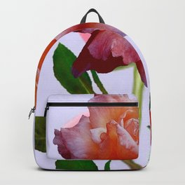 ANTIQUE PINK ROSES BOTANICAL ART Backpack