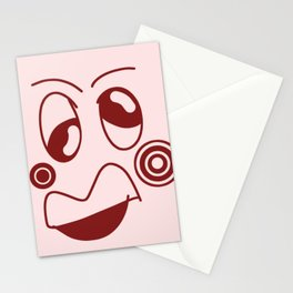 Pea faces abstract  Stationery Cards