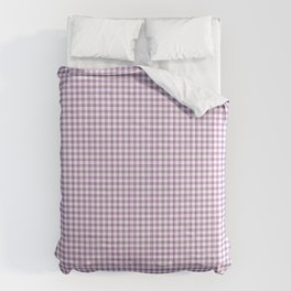 Lilac Gingham Check Comforters