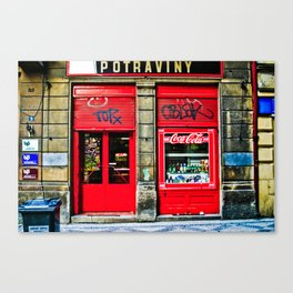 Prague Graffiti # 10 Canvas Print