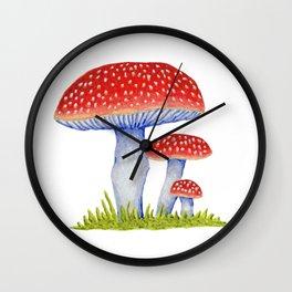 Woodland Toadstools Wall Clock