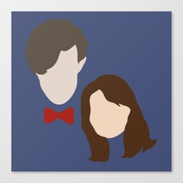 The Eleventh Doctor and the lovely Clara Oswin Oswald Canvas Print