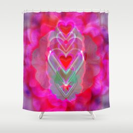 The Hearts Mantra Shower Curtain