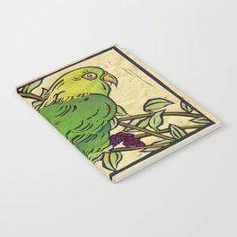 Parrot Linocut Notebook
